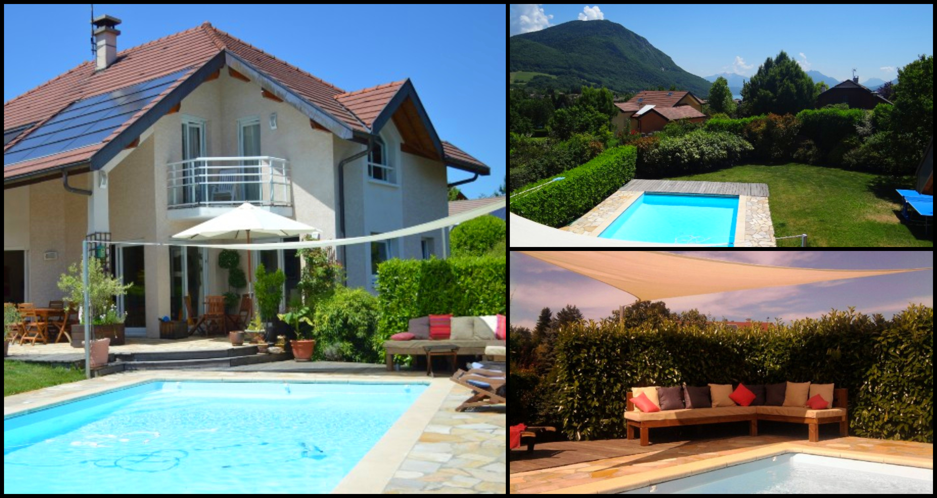 Villas with pools in annecy lake annecy for Lake annecy hotels swimming pool